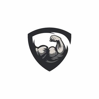 Шаблон логотипа спортзала
