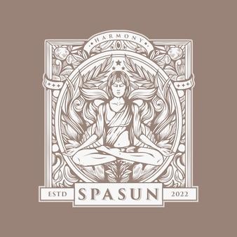 Хороший спа логотип винтажный вектор