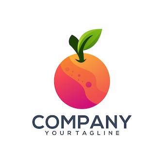 オレンジ色のカラフルなロゴ