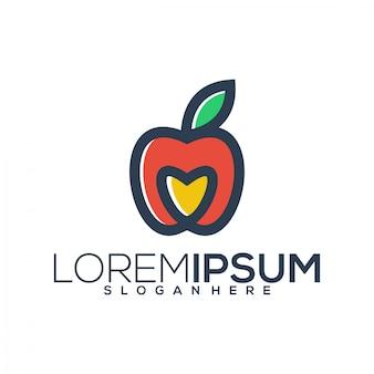 Логотип любви яблока