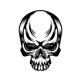 頭蓋骨の頭のロゴのベクトル