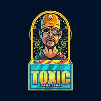 有毒なゲーマーのロゴ