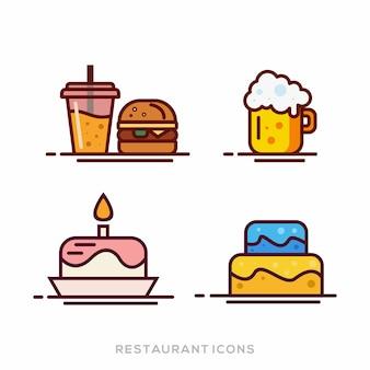 レストランのアイコンベクトル