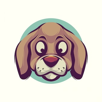 かわいい犬の頭のベクトル