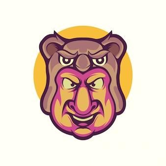 コアラ男のロゴのベクトル