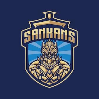 Рыцарь талисман логотип