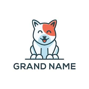 Собака симпатичный логотип