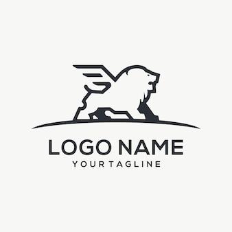Логотип летающего льва