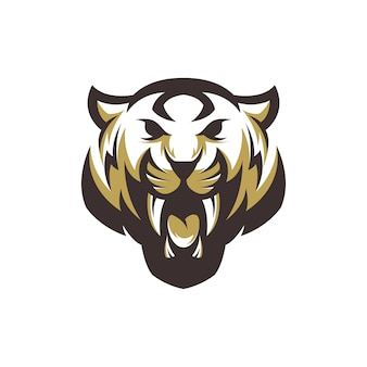 Тигр логотип вектор