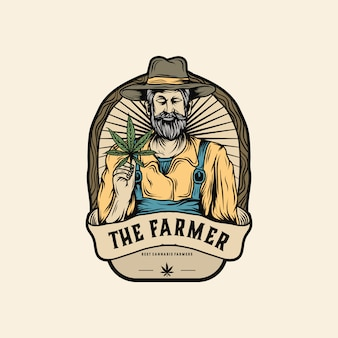 Марихуана фермер логотип