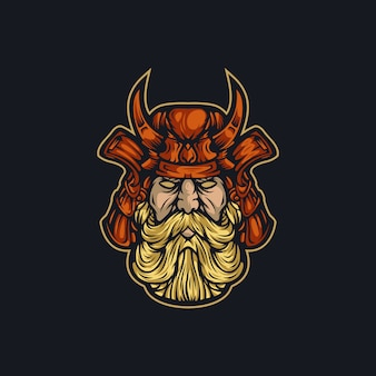ベクトルのロゴの戦士