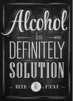 ポスターアルコールは間違いなく