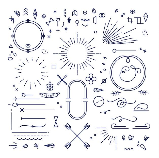 Плоские элементы дизайна