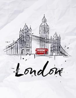 Плакат лондон