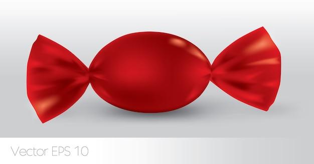 Красная овальная конфета