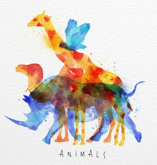 Овертайт животных носорог