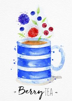 Акварельная чашка чая