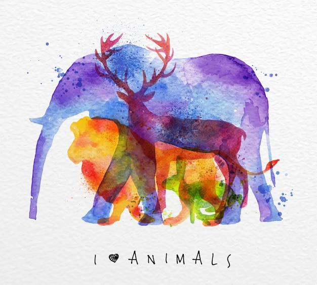 Овертрайт животных слон