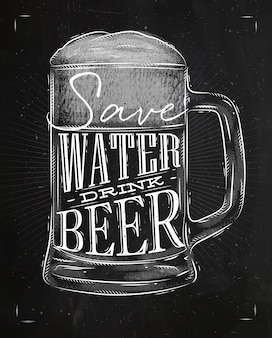 ポスタードリンクビールチョーク