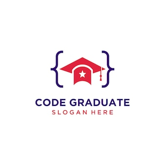 Код выпускника шляпа с логотипом