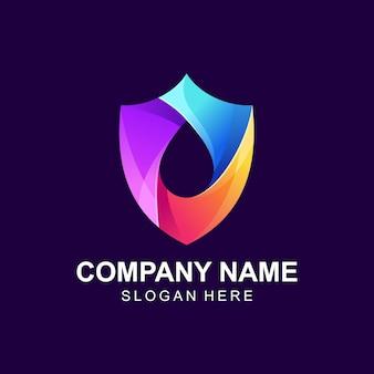 Красочный логотип щита