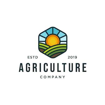 Шаблон логотипа сельского хозяйства