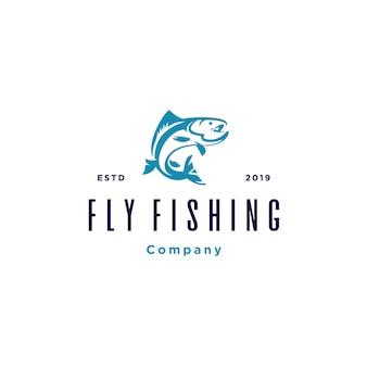 釣りのロゴのテンプレート