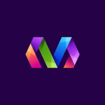 Шаблон письма м логотип