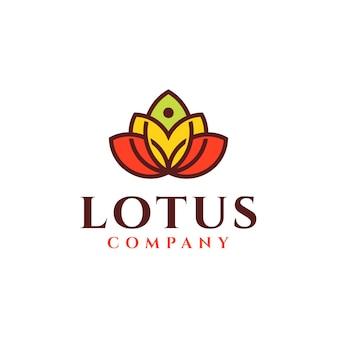 Дизайн логотипа цветок лотоса