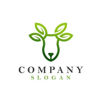 鹿の葉のロゴ