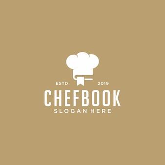 Винтажный шеф-повар книга дизайн логотипа