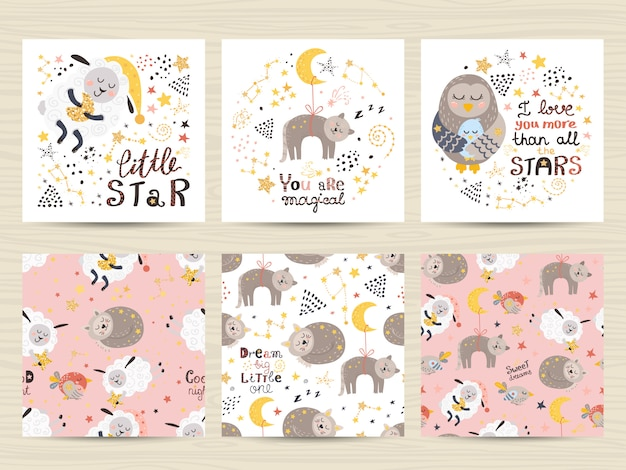Набор открыток для маленьких девочек