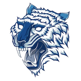 Голова тигра векторная иллюстрация