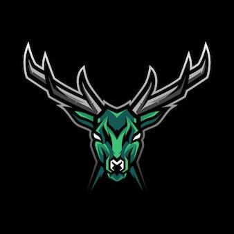 鹿の頭のマスコットロゴ