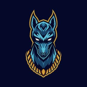 Логотип талисмана головы собаки