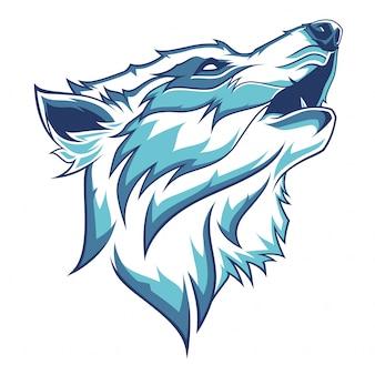 オオカミの頭のイラスト