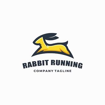 Кролик цветной векторный шаблон