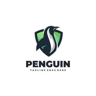 Простой пингвин эмблема векторный шаблон