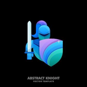 騎士のカラフルなイラスト