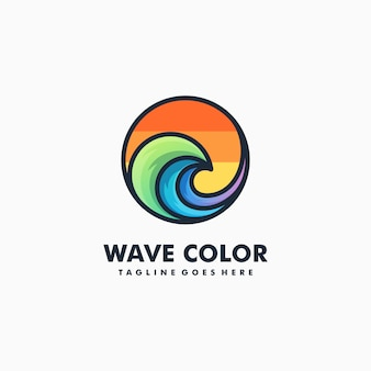 波カラフルなイラストベクトル