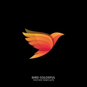 鳥コンセプトデザインイラストベクトルテンプレート
