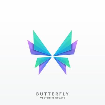 蝶イラストベクトルテンプレート