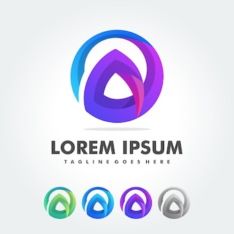 Письмо логотипа дизайн вектор шаблон