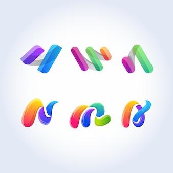 カラフルな抽象的なアイコンベクトル記号