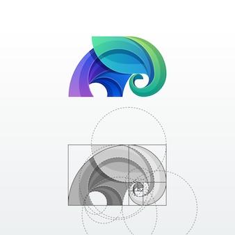 象の抽象的なベクトルのロゴのテンプレート