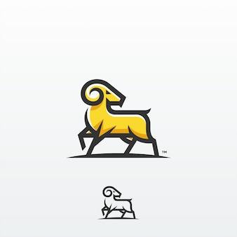 ヤギラムロゴデザインベクトルテンプレート