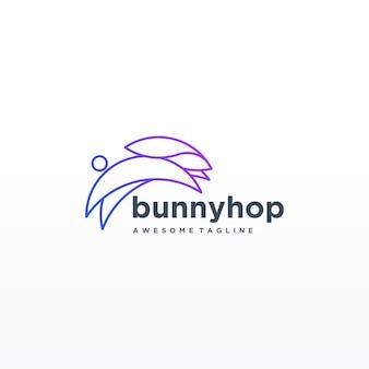 Кролик красочная линия арт дизайн