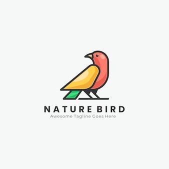 Геометрический логотип птицы