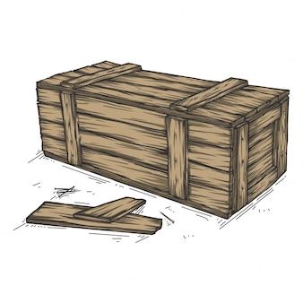 Деревянная упаковка коробки