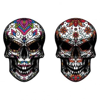 頭蓋骨の花飾り